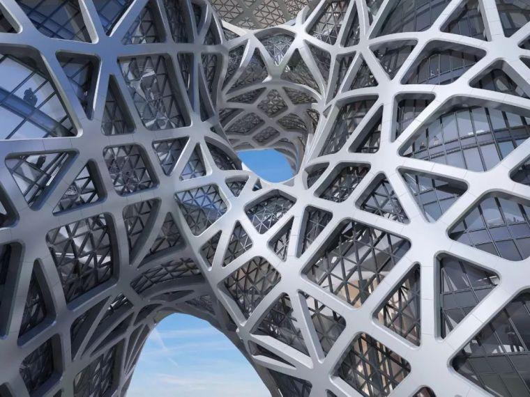全球首个自由形态外骨骼网架结构幕墙_12
