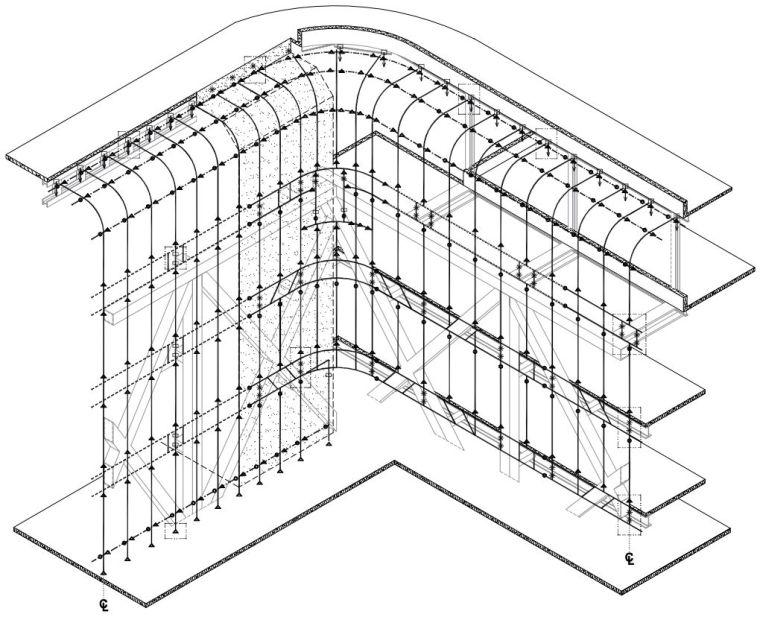 全球首个自由形态外骨骼网架结构幕墙_27
