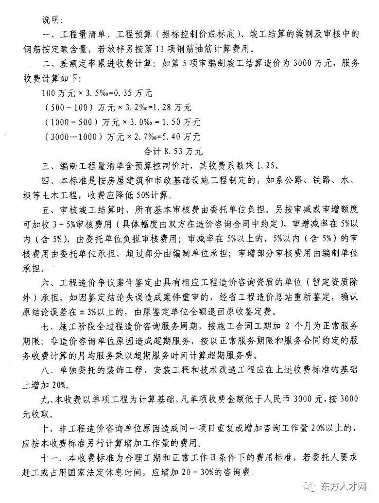 全国30省/市最新工程造价咨询收费标准公布_43