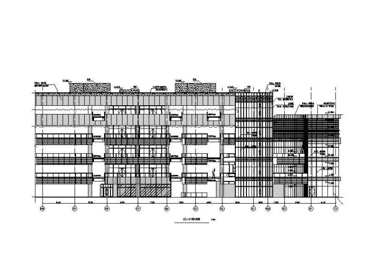 重庆某商业广场-西区商业街建筑施工图2016