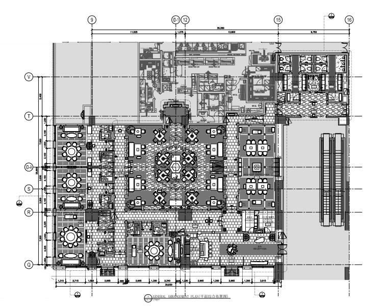 广州新世界酒店餐饮区域方案+施工图+SU模型