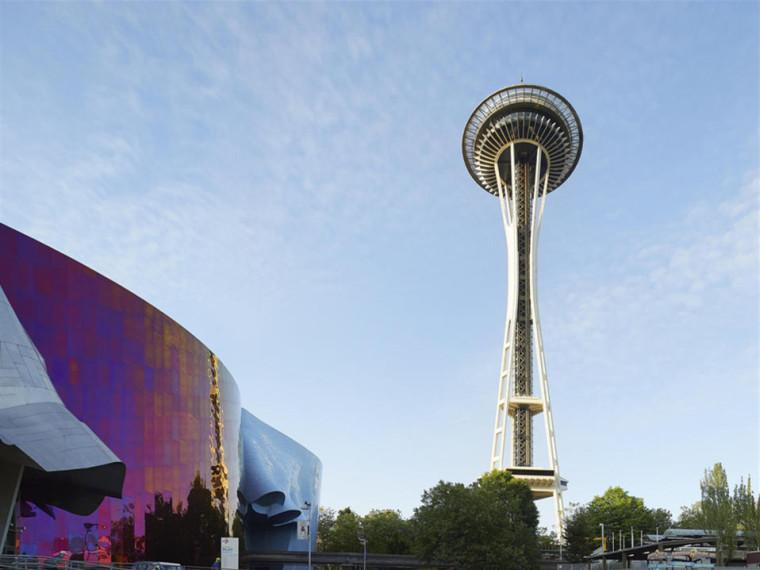 美国西雅图标志性太空针塔改造