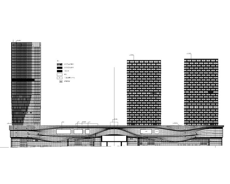 商业综合体商业广场全套建筑施工图2017