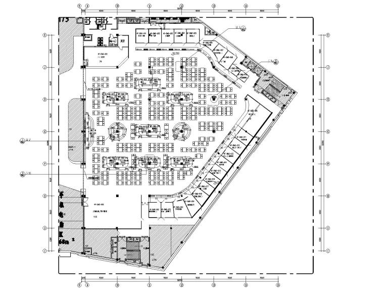 华生购物中心四层美食城室内装饰CAD施工图