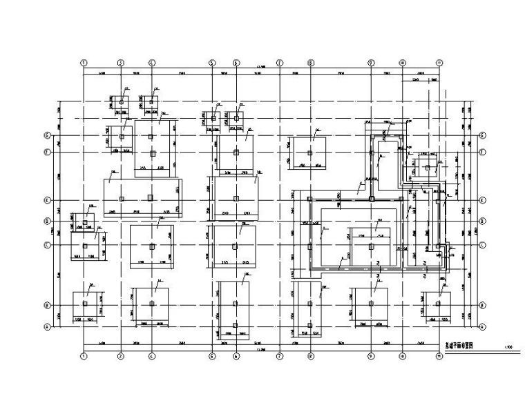 基础平面布置图4