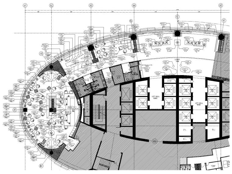 苏宁凯悦酒店大堂丨全日制餐厅CAD施工图