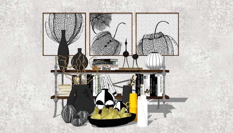 室内装修陈设饰品SU模型设计(6)