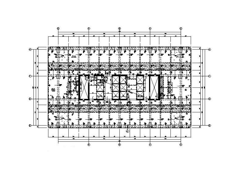 商业广场超高层办公楼+商业+餐饮结构施工图