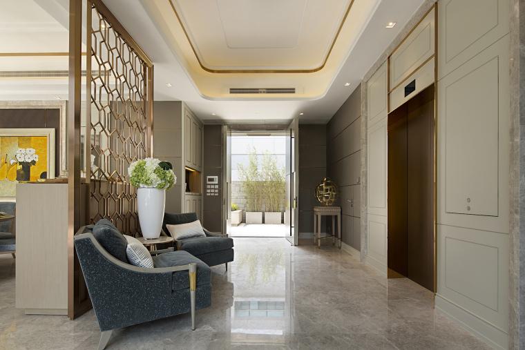 港式轻奢样板房别墅设计参考实景案例980P
