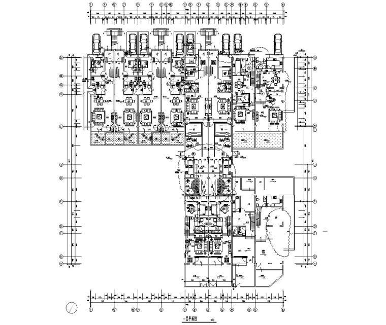 合院联排住宅建筑住宅楼设计图