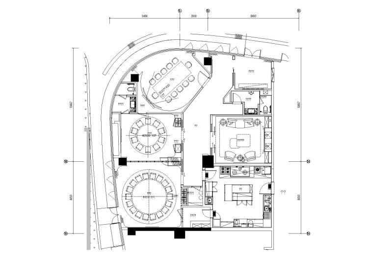 集艾设计-上海中城事业办公室CAD施工图