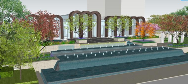 [北京]万科翡翠长安示范区建筑模型设计
