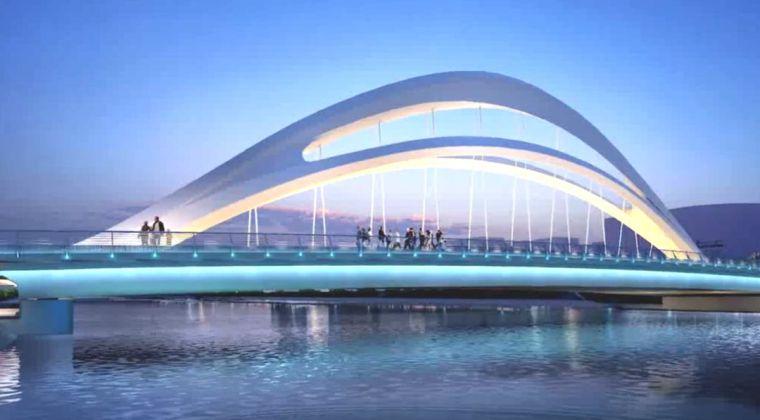 海盐城南桥重建工程异型桥梁BIM设计应用
