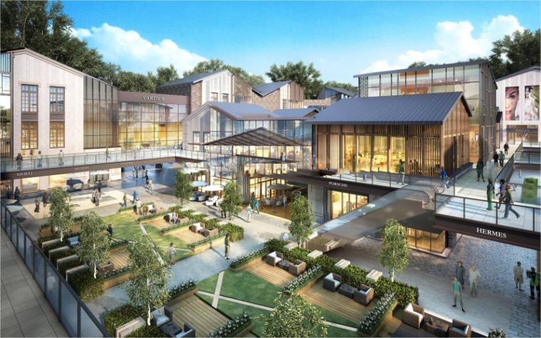 [湖北]光谷之星中式新中式商业街建筑模型