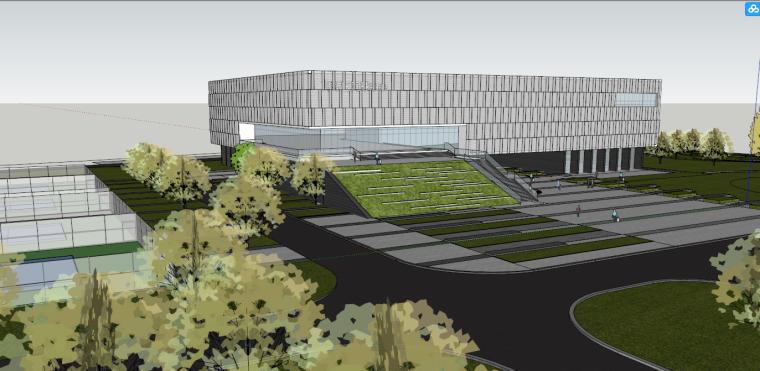 [四川]高新区现代风格网球中心建筑模型