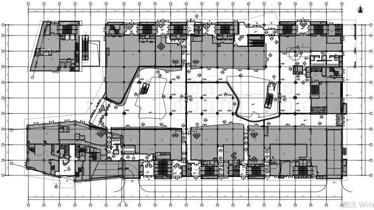 北京路劲世界城三期商场及办公大堂全套CAD