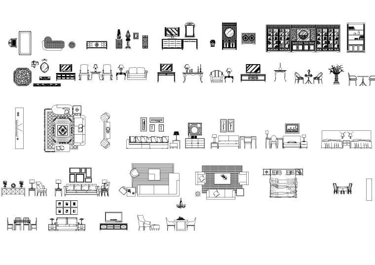 CCD-客房施工图整理图库