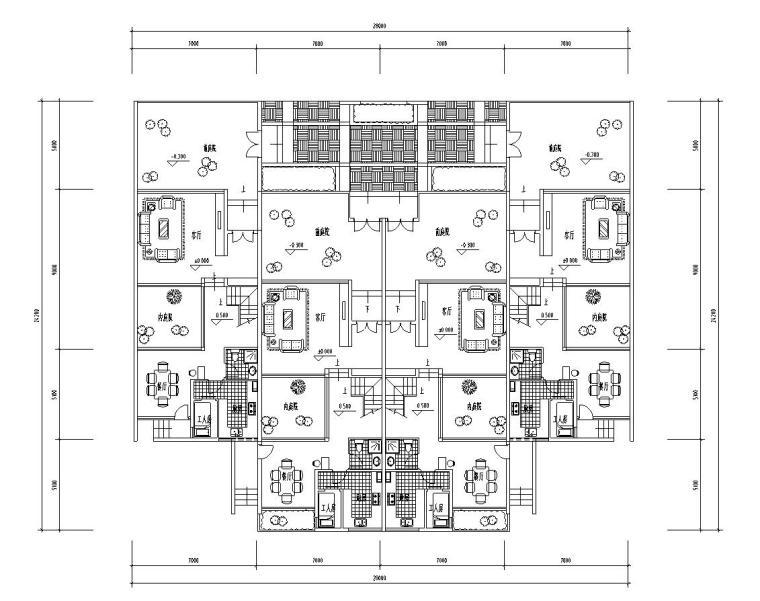 多层合院住宅建筑住宅楼设计图