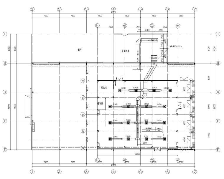 合肥江淮道一洁净室暖通设计施工图