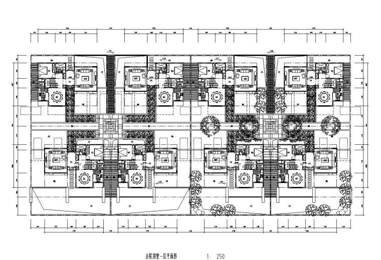 合院别墅住宅建筑住宅楼设计图