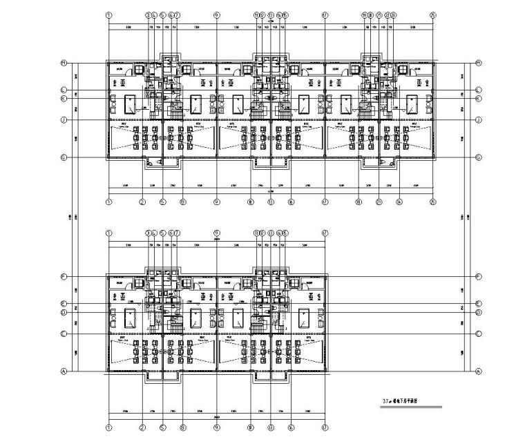 宏图上水园合院联排建筑住宅楼设计图