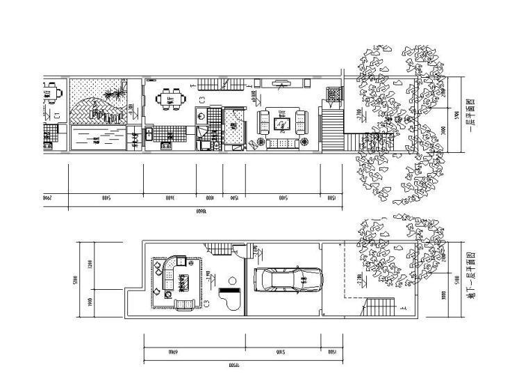 C型合院联排建筑住宅楼设计图