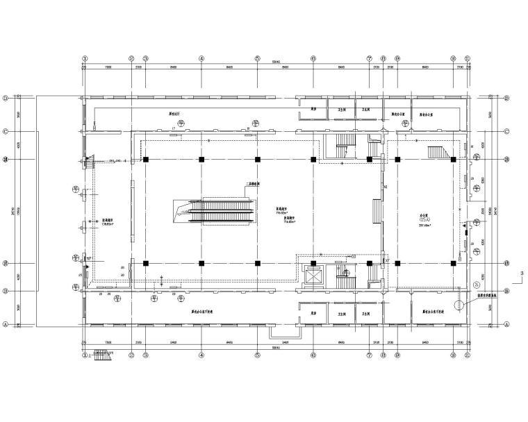 二层医药超市供暖通风设计施工图