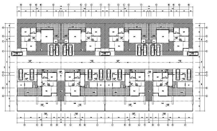 合院别墅建筑住宅楼设计图
