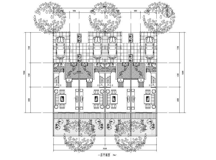 合院别墅联排住宅建筑住宅楼设计图