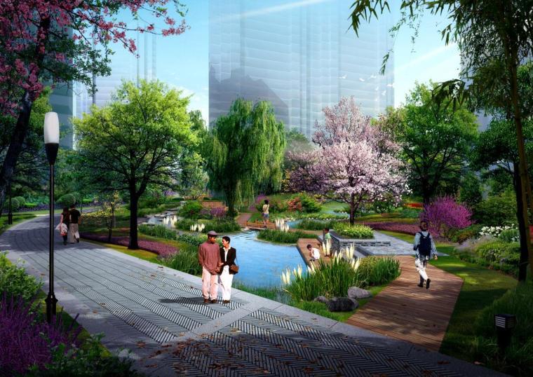 [陕西]现代风格高档居住区景观设计方案
