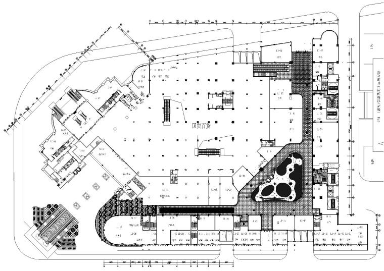 [贵州]深港-安顺塔山广场一层商业施工图