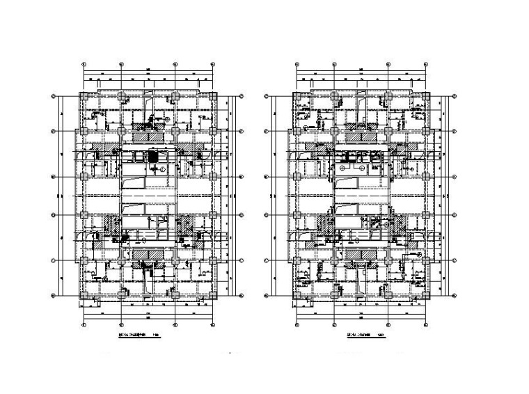 超高层停工楼盘新建加固结构施工图(含建筑)