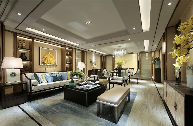 中式轻奢风格-豪宅别墅设计参考实景案例