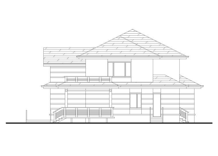 现代二层独栋别墅建筑施工图