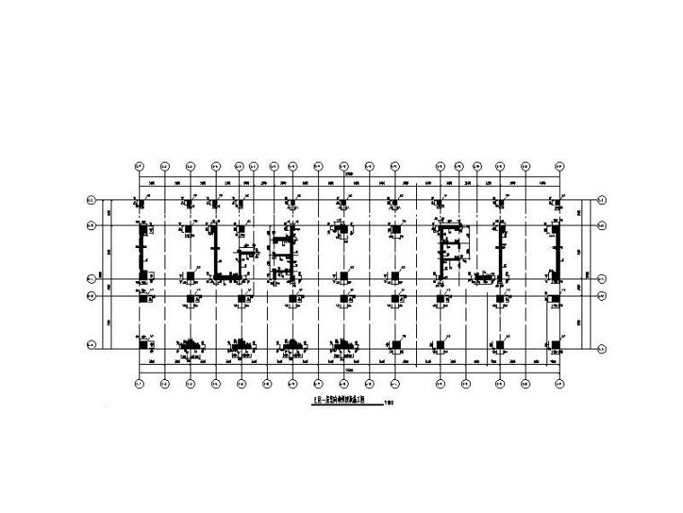 12层商业广场框剪结构施工图(人防地下室)