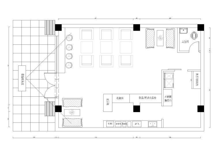 小笨焦coffeeshop现代咖啡厅施工图+效果图