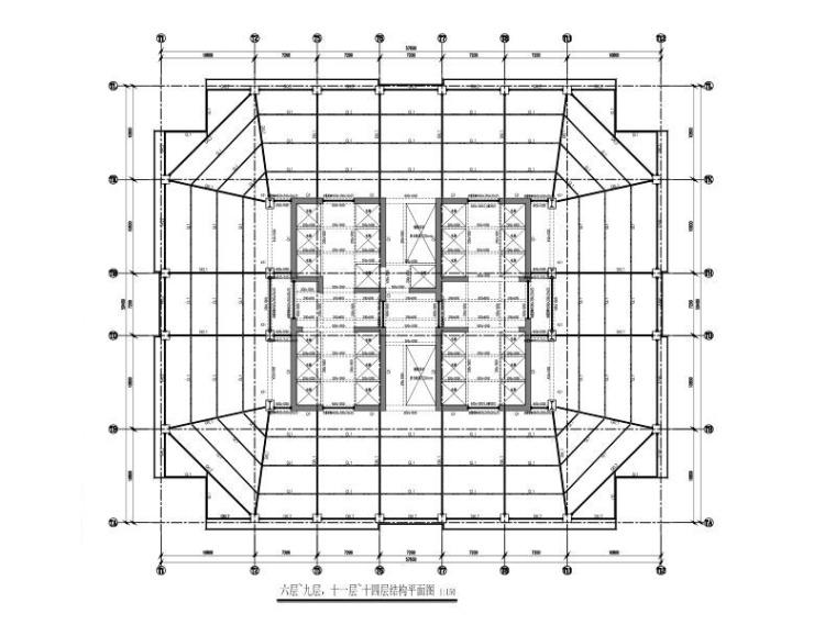 180m超高层商业+剧院+办公楼结构总体设计图