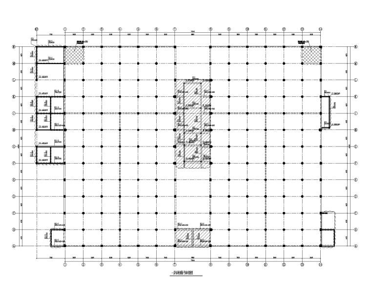 钢混板柱结构加固及拆除结构施工图2017