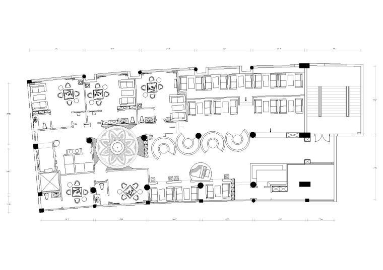 青藤-盛世华章咖啡厅方案施工图+实景拍摄