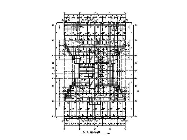 97m商场+办公楼办公大厦框剪结构施工图