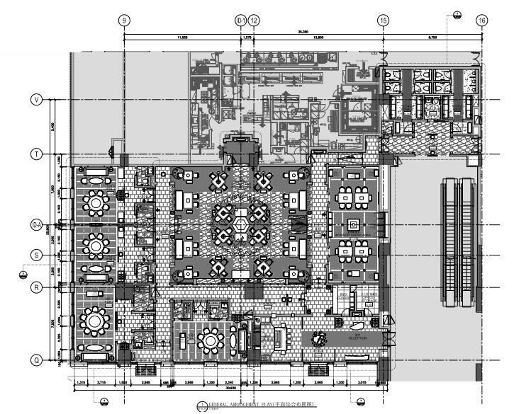 [广州]新世界酒店餐饮区室内装饰设计施工图