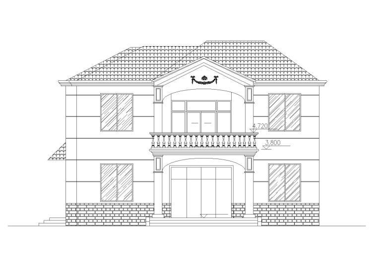 钢混结构独栋别墅建筑施工图