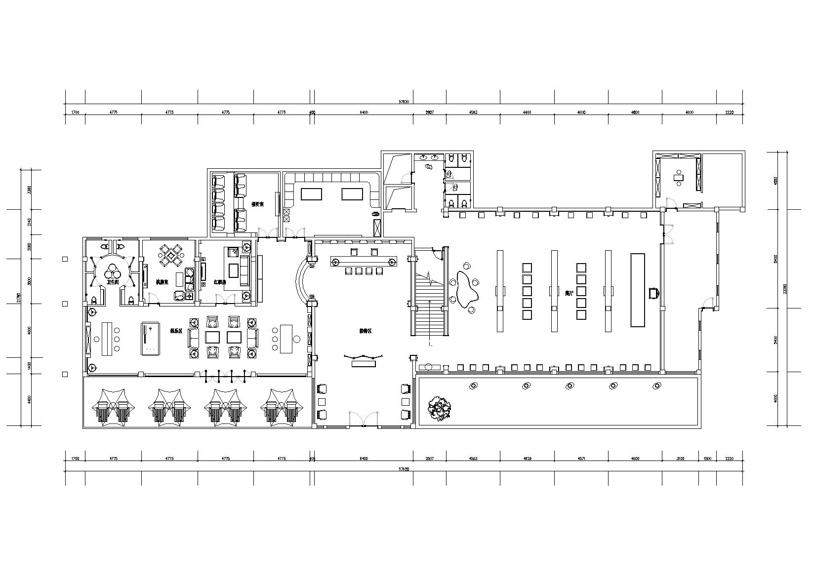 休闲会所 图纸深度:竣工图 设计风格:新中式风格 图纸格式:jpg,cad
