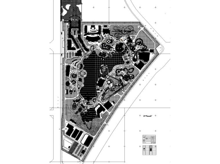 合肥万达乐园项目CAD施工图+概念深化方案