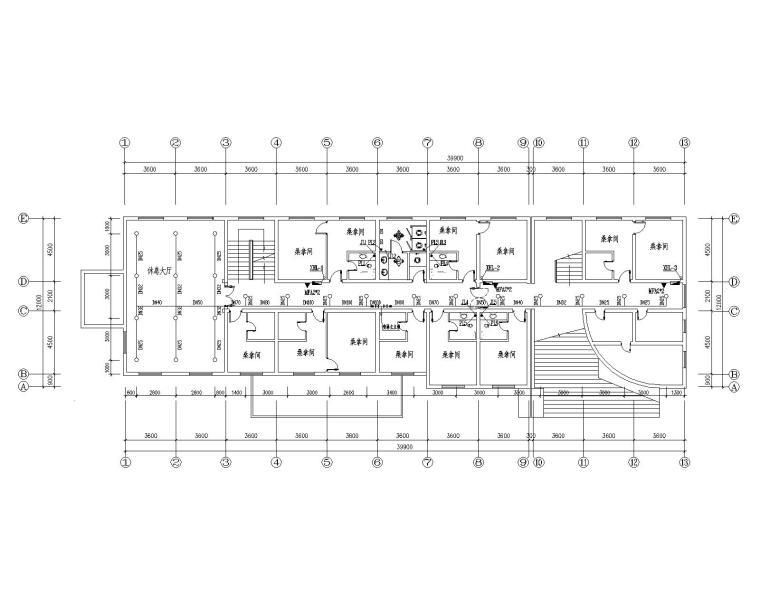 度假村五层洗浴中心综合楼给排水设计施工图