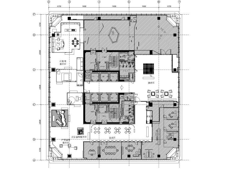 深圳嘉里建设广场40F家具展厅装修施工图