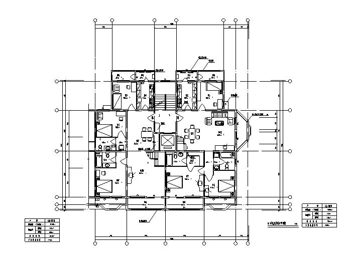 单元楼一梯两户楼层户型设计图