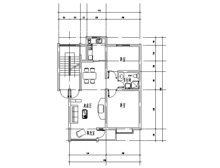 小区住宅经典套房户型设计图(CAD)