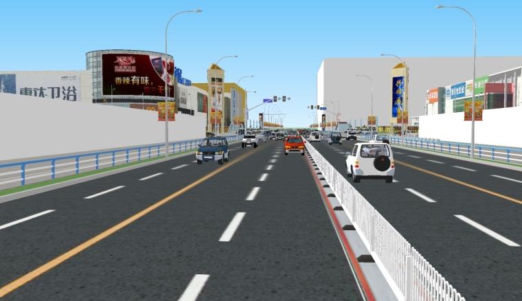 精致城市马路街道商业广场景观su模型