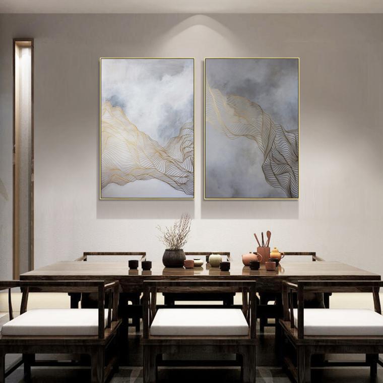 新中式轻奢风家居装饰画